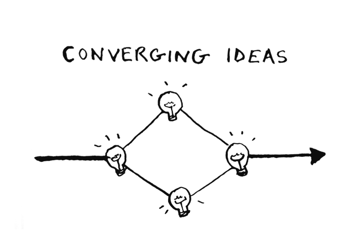coverging ideas storytelling